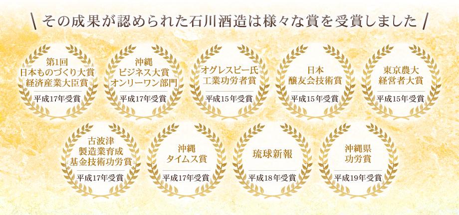 その成果が認められた石川酒造は様々な賞を受賞しました